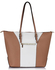 LS00496 - Large Nude / White Shoulder Handbag