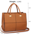 LS00153XL - Large Tan Fashion Tote Handbag