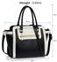 LS00255B - Black /White Grab Tote Handbag