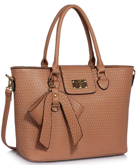 LS00485 - Nude Grab Bag With Bow Charm