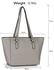 LS00497 - Grey Grab Shoulder Handbag