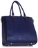 LS00512 - Wholesale & B2B Navy Tote Grab Handbag With  Faux Fur Charm Supplier & Manufacturer