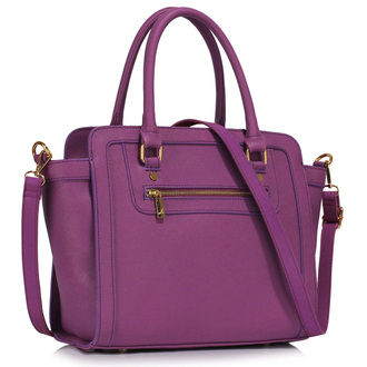 LS00255A - Purple Grab Tote Handbag