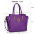LS00463 - Wholesale & B2B Purple Polished Metal Shoulder Handbag Supplier & Manufacturer