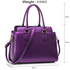 LS00419 - Purple Women's Grab Tote Bag