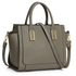 LS00338B - Grey Grab Tote Handbag