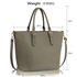 LS00263 - Wholesale & B2B Grey Grab Shoulder Handbag Supplier & Manufacturer