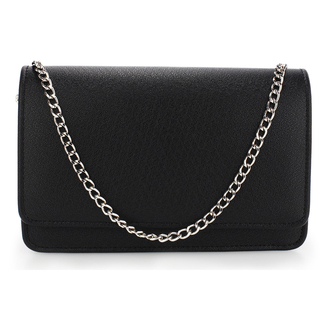 AGC00342 -  Black Large Flap Clutch purse