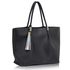 LS00271 - Black Tassel Charm Shoulder Bag