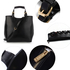 AG00267 - Black Ladies Fashion Tote Handbag