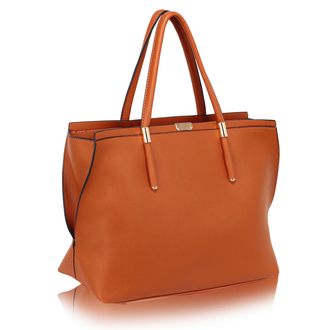 LS00277 - Wholesale & B2B Brown Tote Bag Supplier & Manufacturer