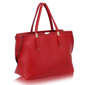 LS00277 - Wholesale & B2B Red Tote Bag Supplier & Manufacturer