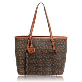 AG00534 - Black Women's Tote Bag With Front Pocket