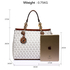 AG00536 - White Women's Tote Shoulder Bag