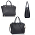 AG00516 - Black Women's Tote Shoulder Bag