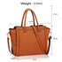 AG00516 - Brown Women's Tote Shoulder Bag
