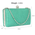 LSE00278 - Emerald Crystal Beaded Evening Clutch Bag
