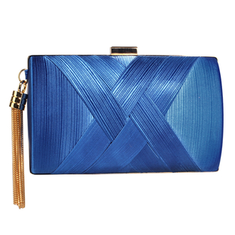 LSE00318 - Blue Tassel Clutch