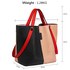 AG00198 - Black / Nude Women's Tote Shoulder Bag
