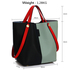 AG00198 - Black / Blue Women's Tote Shoulder Bag