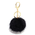 AGC1012 - Black Fluffy Bag Charms