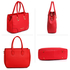 AG00515 - Red Women's Tote Shoulder Bag