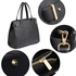 AG00527 - Black Tote Shoulder Handbag