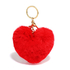 AGC1014 - Red Fluffy Heart Bag Charms