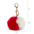 AGC1015 - Red / White Faux Fur Bag Charms