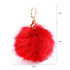 AGC1016 - Fluffy Fur Red Bag Charms