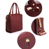 AG00530 - Wholesale & B2B Burgundy Tote Shoulder Handbag Supplier & Manufacturer