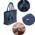 AG00531 - Navy Tote Bag With Bow Charm