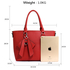 AG00531 - Red Tote Bag With Bow Charm