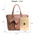 AG00531 - Nude Tote Bag With Bow Charm