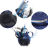 AGF00209 - Royal Blue / Black Mesh Hat Feather Fascinator