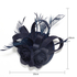 AGF00209 - Navy Mesh Hat Feather Fascinator