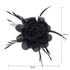 AGF00210 - Black Mesh Hat Flower Fascinator on Clip
