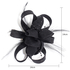 AGF00211 - Black Feather & Flower Fascinator