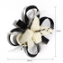 AGF00211 - Black / Ivory Feather & Flower Fascinator