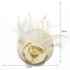 AGF00212 - Ivory Feather & Flower Mesh Hat Fascinator