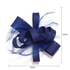 AGF00213 - Royal Blue Feather & Flower Fascinator On Clip