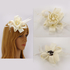 AGF00215 - Ivory Feather & Flower Hair Fascinator