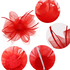 AGF00217 - Red Feather & Mesh Hair Fascinator