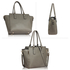 AG00314A - Wholesale & B2B Grey Zipper Tote Bag Supplier & Manufacturer
