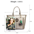 AG00404 - Wholesale & B2B Grey Tote Bag With Faux-Fur Charm Supplier & Manufacturer