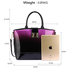 AG00329 - Purple Patent Two-Tone Handbag