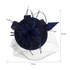 AGF00219 - Navy Mesh Hat Feather Fascinator