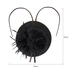 AGF00220 - Black Feather & Flower Fascinator