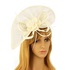 AGF00223 - Ivory Feather & Flower Fascinator