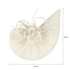 AGF00223 - White Feather & Flower Fascinator